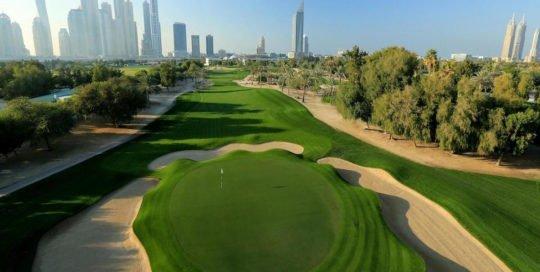Golfbane i Dubai. Golfbutikken