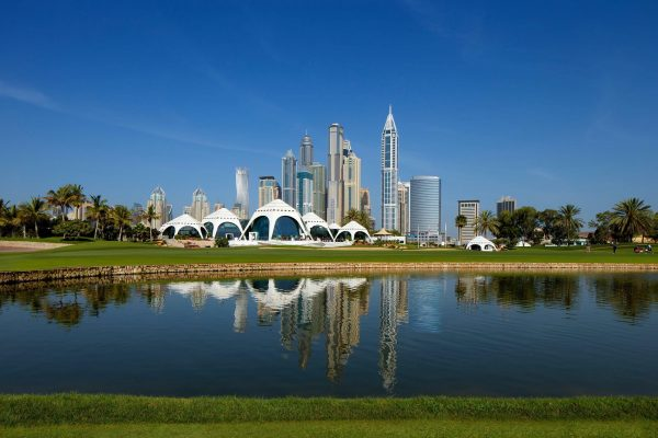 Klubbhus Emirates Golf club Dubai.