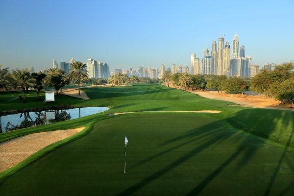 Golfbanen Emirates Majlis Golf i Dubai.