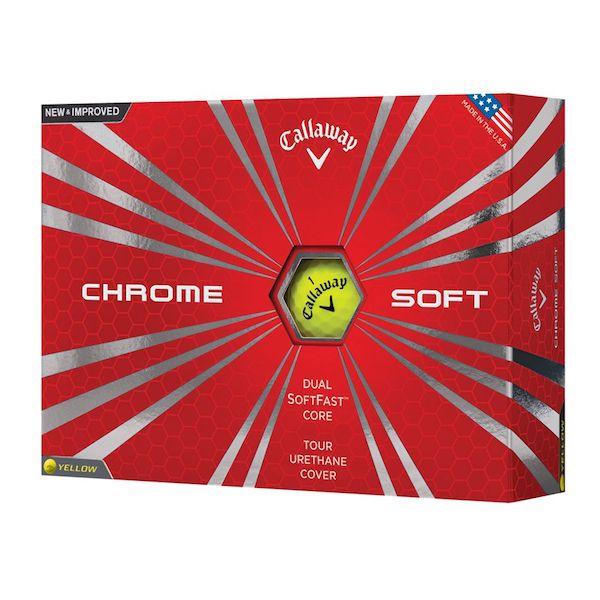Callaway Chrome Soft Gul, 3 dusin/36 baller