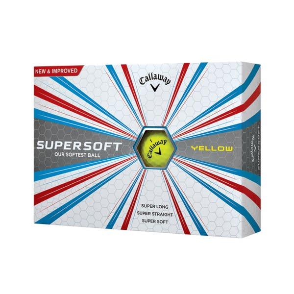 Callaway Supersoft Gul, 3 dusin/36 baller