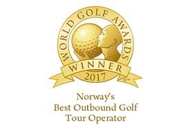 Bilde av prisen Norways best outbound golf tour operator 2017